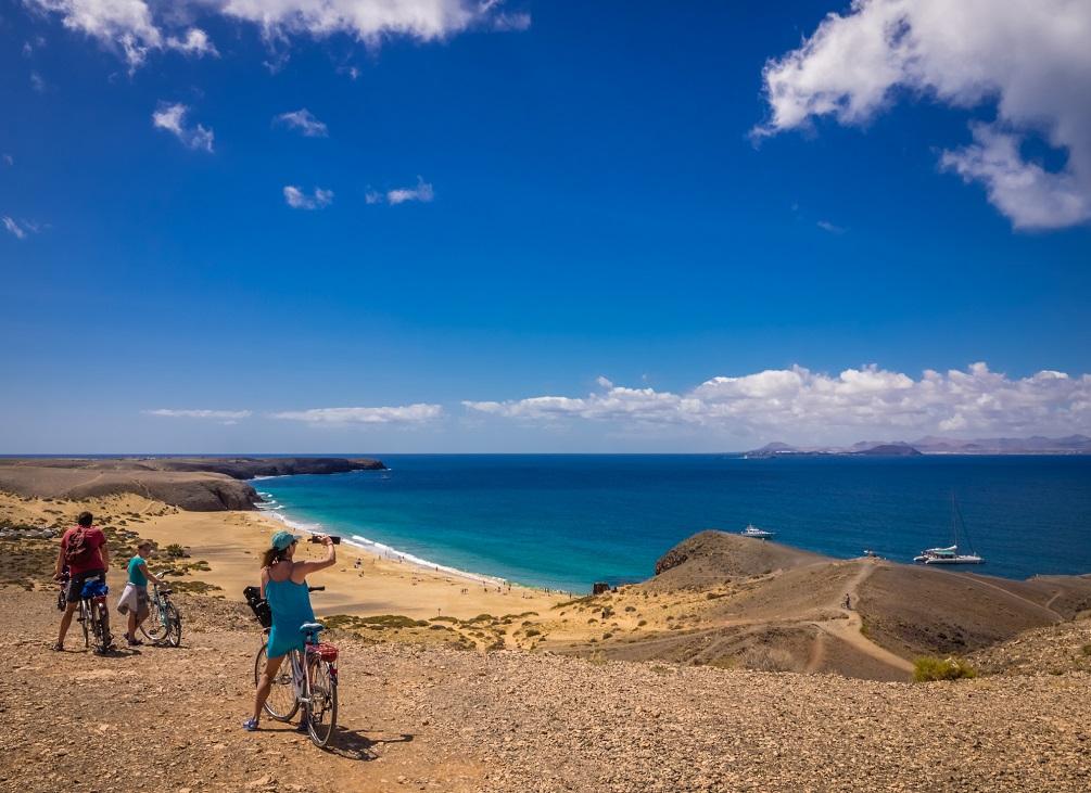 Canary Islands family tourist