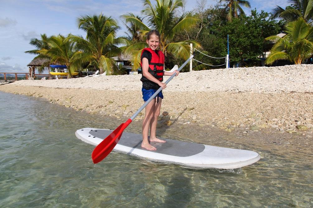 Kid tourist in Vanuatu