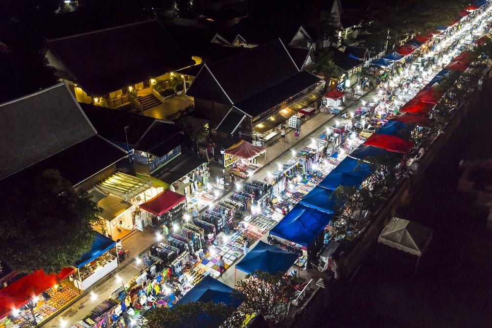Luang Prabang night market Laos