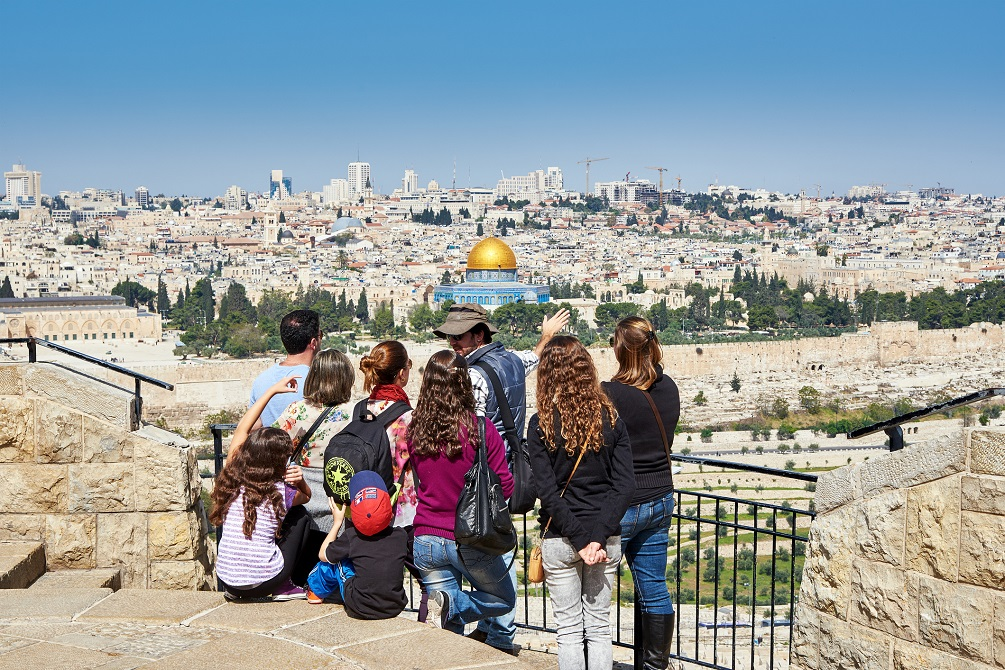 Tourists in Israel