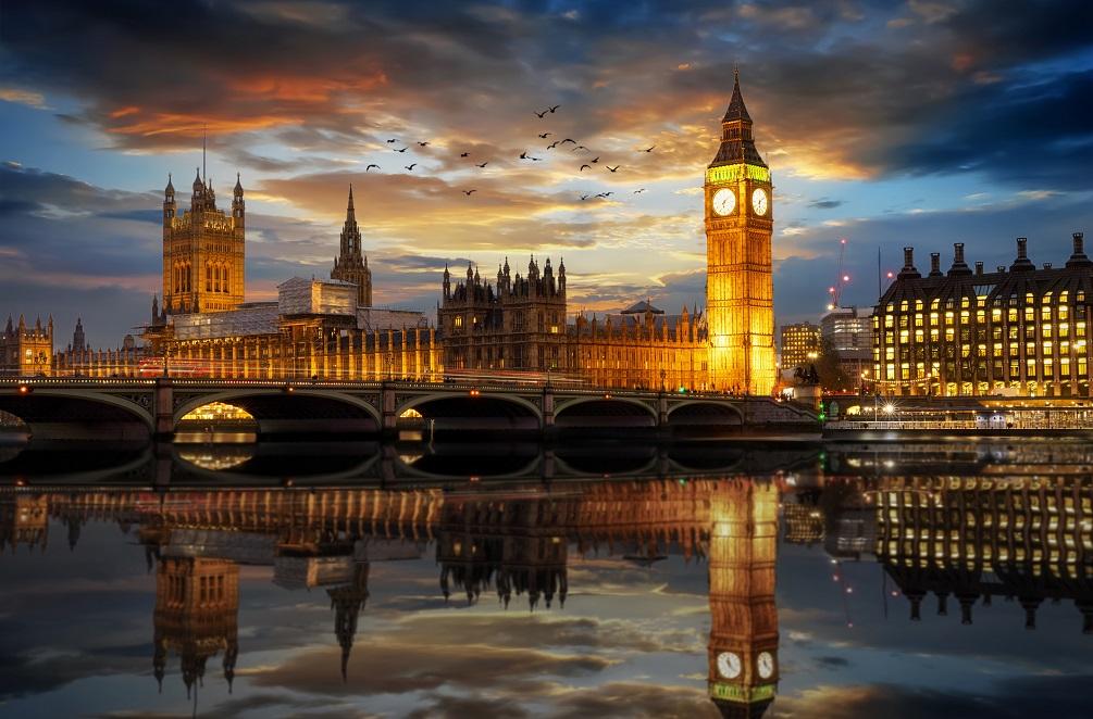 Westminster and Big Ben clocktower in London