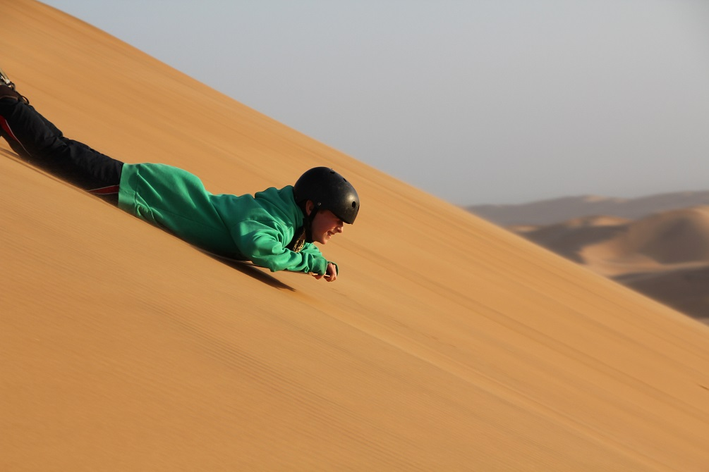 sand-boarding in Namibia